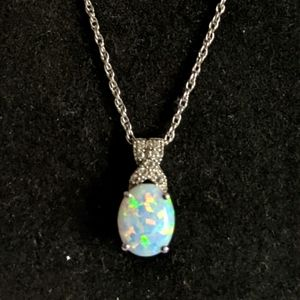 Kay's opal sterling silver necklace